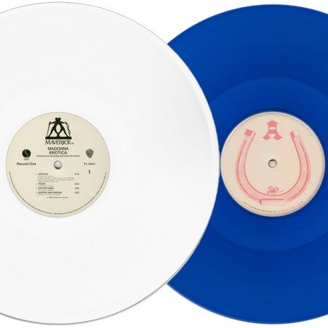 Erotica white vinyl and Music blue vinyl