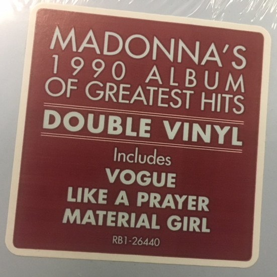 The Immaculate Collection on Vinyl again in US